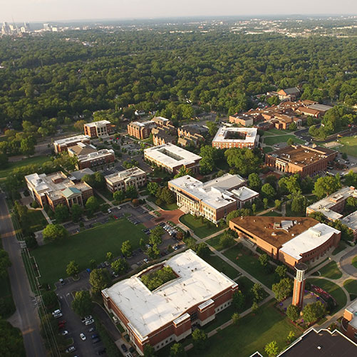 An aerial look at Lipscomb University
