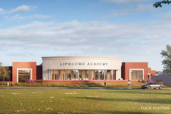 Lipscomb Academy Lower School expansion elevation rendering