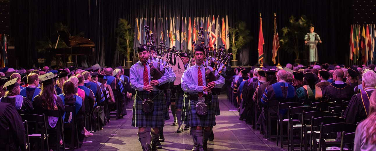 Nashville Pipes and Drums marches in Convocation