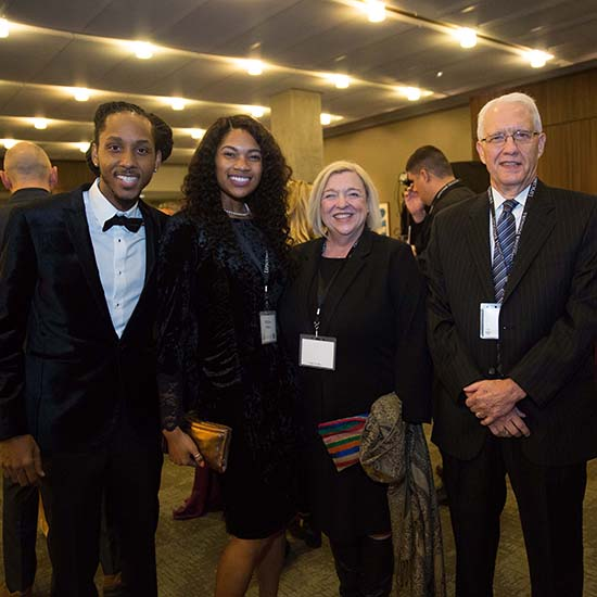 MarQo Patton, left, at the Lipscomb Honors event in 2018