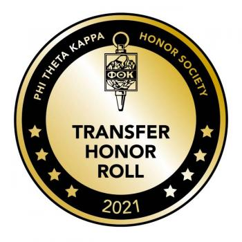 Transfer Honor Roll badge 2021