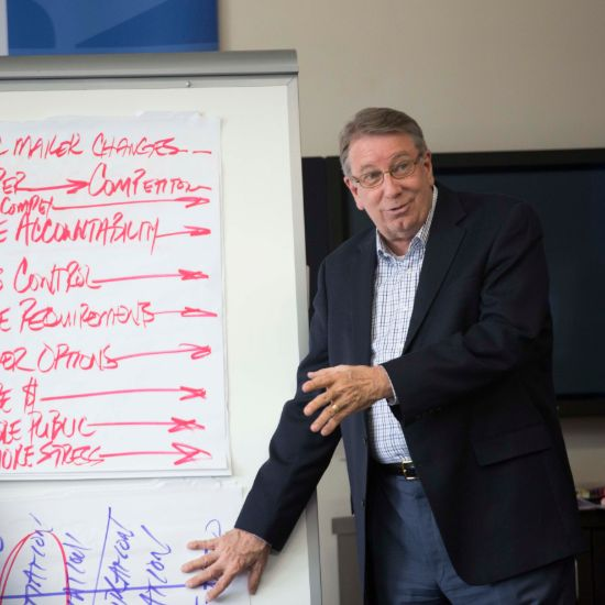 Lipscomb University President Randy Lowry teaches a class.