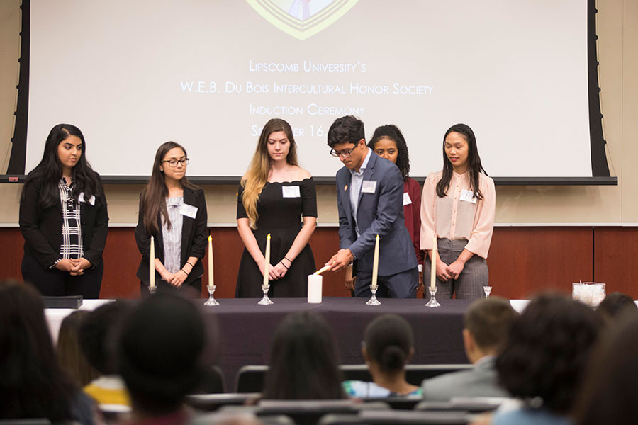 Students here are joining the W.E.B. DuBois Intercultural Honor Society.