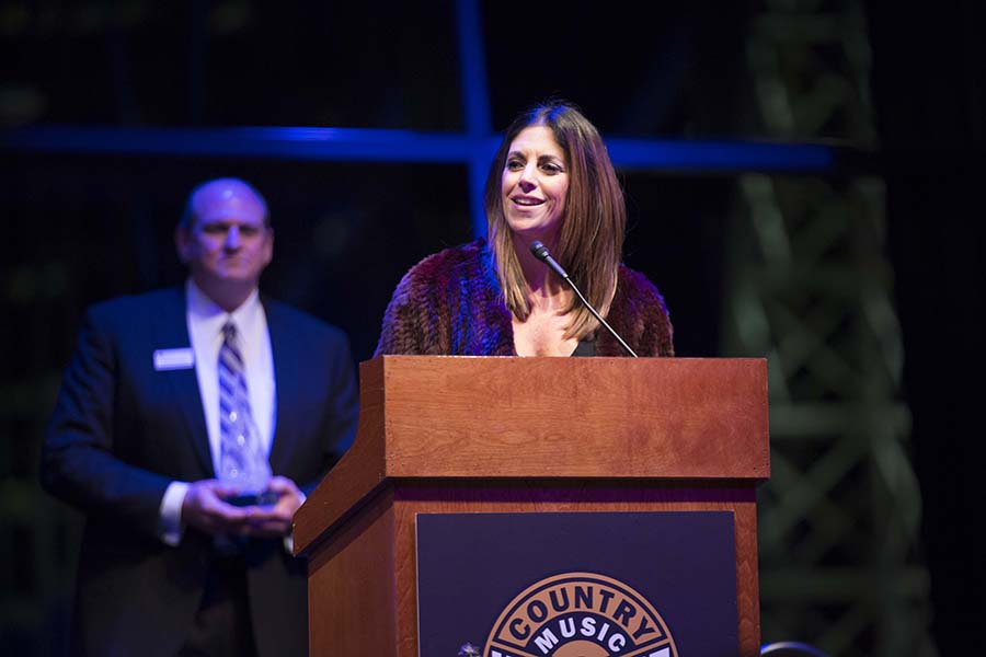 an alum speaks at Country Music Hall of Fame