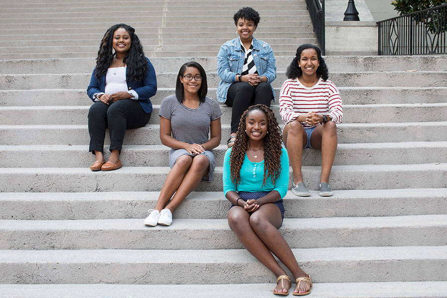 Student leaders of Black Student Union.