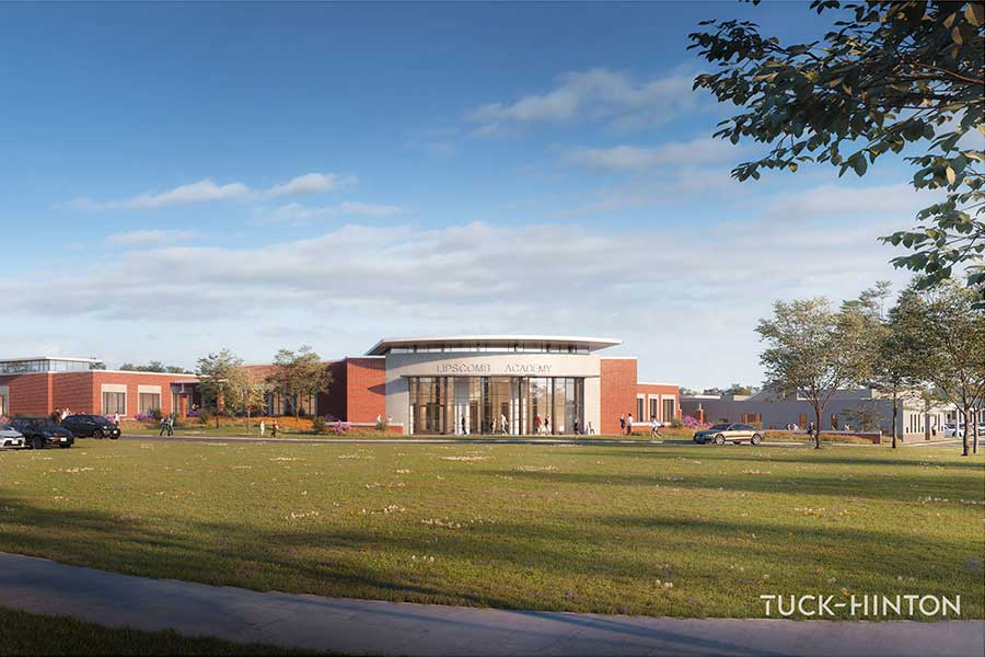 Lower School expansion rendering front view