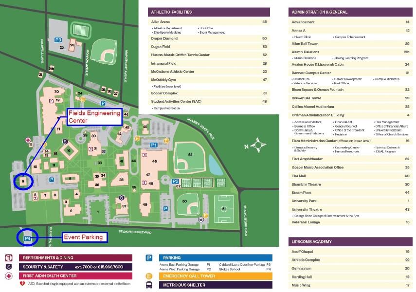lipscomb university campus map Ashrae Student Night February 13 2020 University Lipscomb lipscomb university campus map