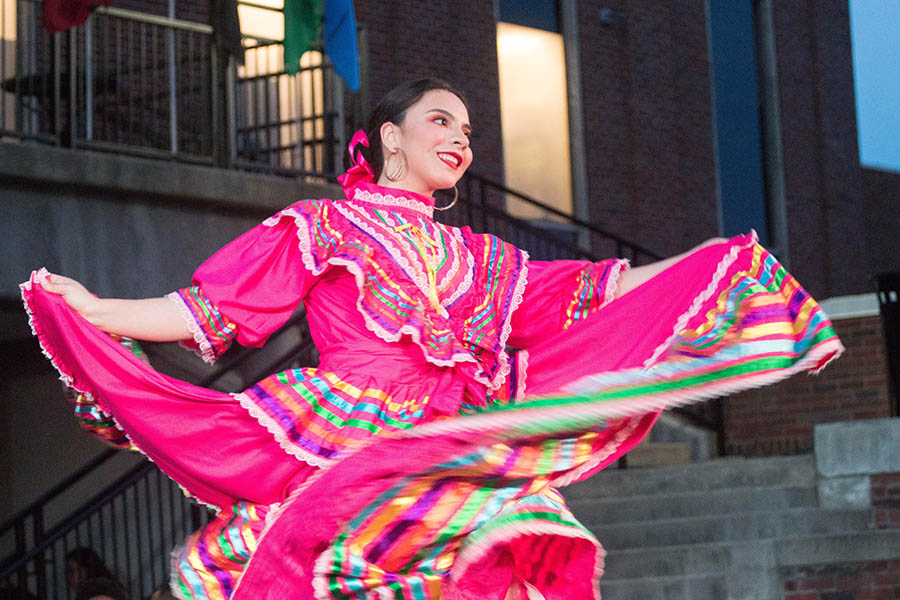 Alondra Pina Mota dances as part of her dance troupe United in Dance