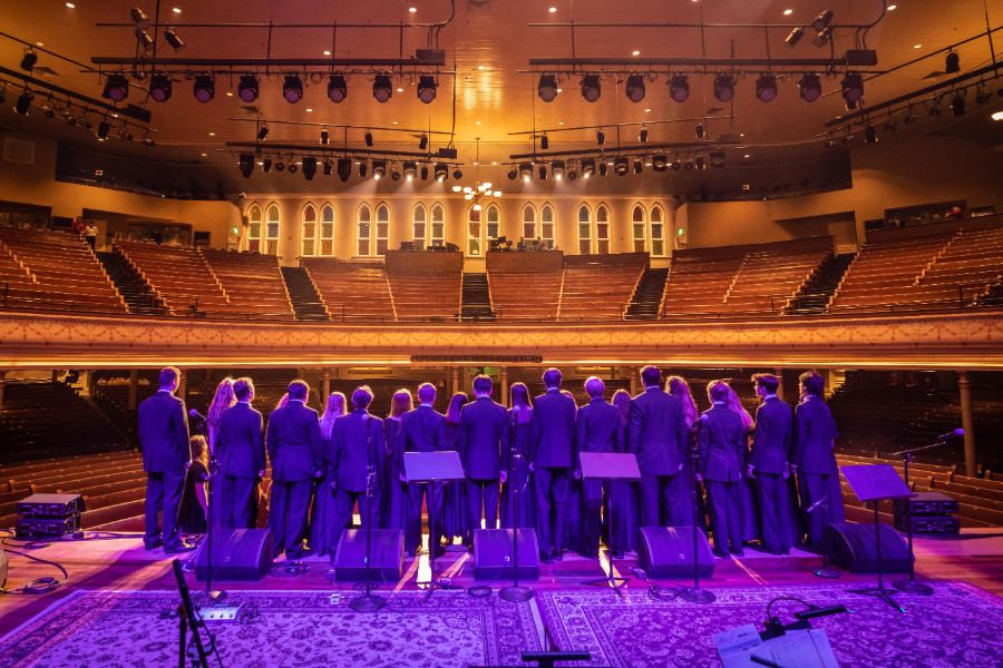 Concert Chorus at the Ryman for a Tokens Show