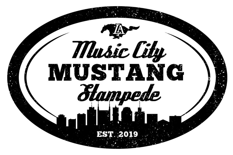 Logo for the Music City Mustang Stampede