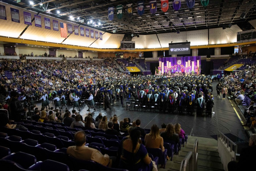 Graduation ceremony in Allen Arena