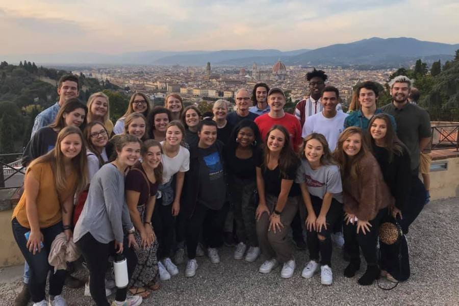 Students in Florence, Italy