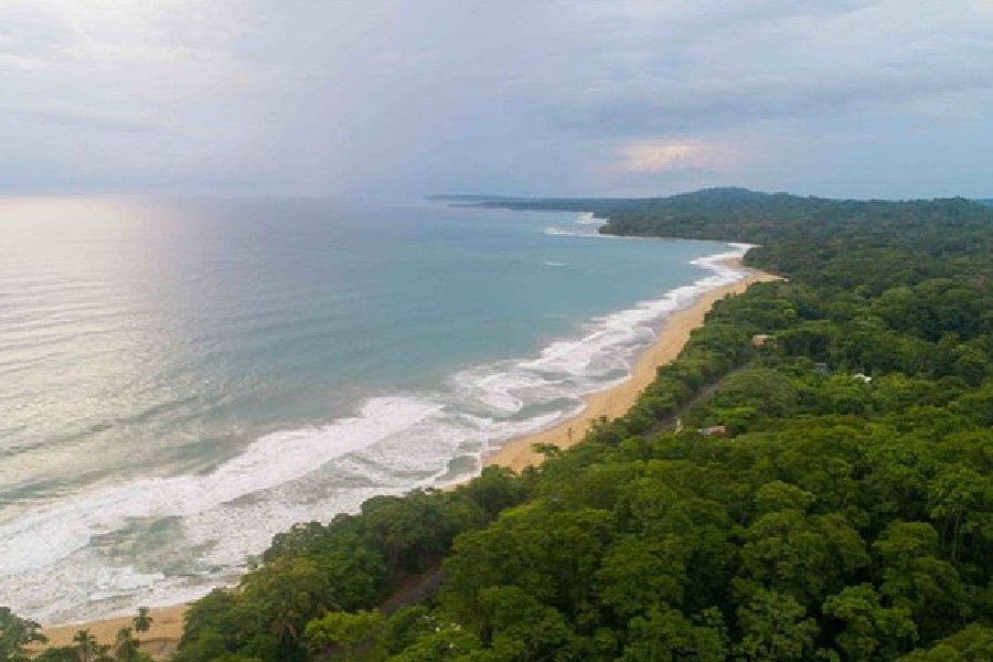A view of the beaches of Costa Rica