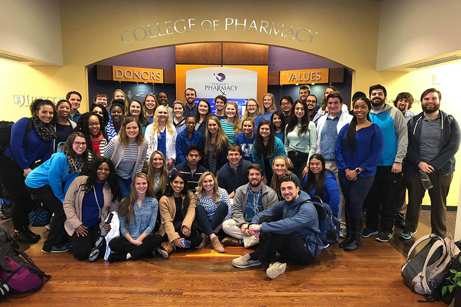 The members of the APhA-ASP student chapter in the Burton Center