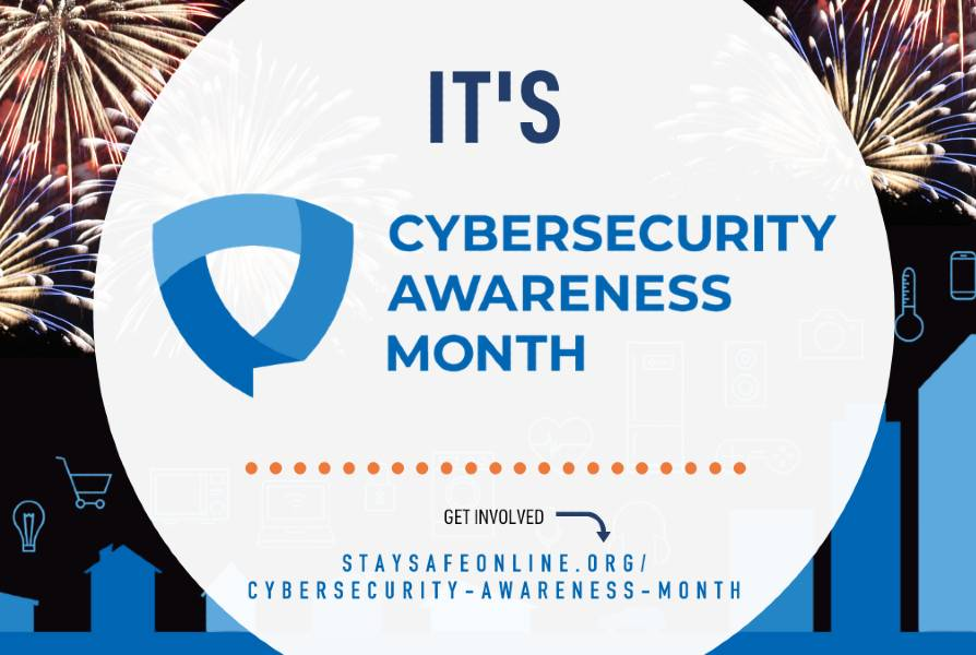 Logo for National Cyber Security Awareness month