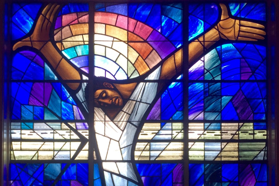 Stained Glass window at Birmingham's 16th St. Baptist Church