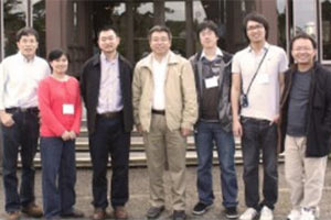 Qingguo Wang stands with his reasearch team at the University of Missouri.