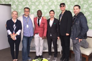 Six panelists at the Cannes Film Festival
