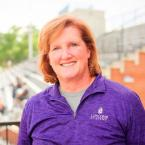 Michelle York on Lipscomb Academy's campus
