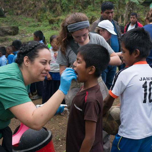 Students on a medical mission in Guatemala