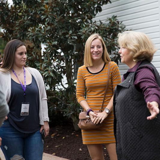 With Rhonda Lowry, presidential spouse, on Family Weekend