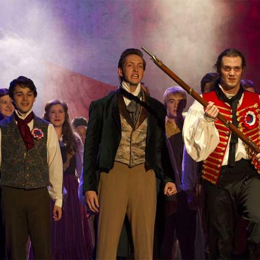 A performance of Les Miserables