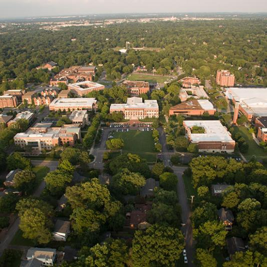 Lipscomb as seen from the air in 2018.