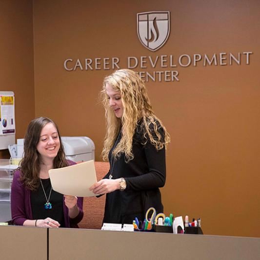 A look in the Career Development Center