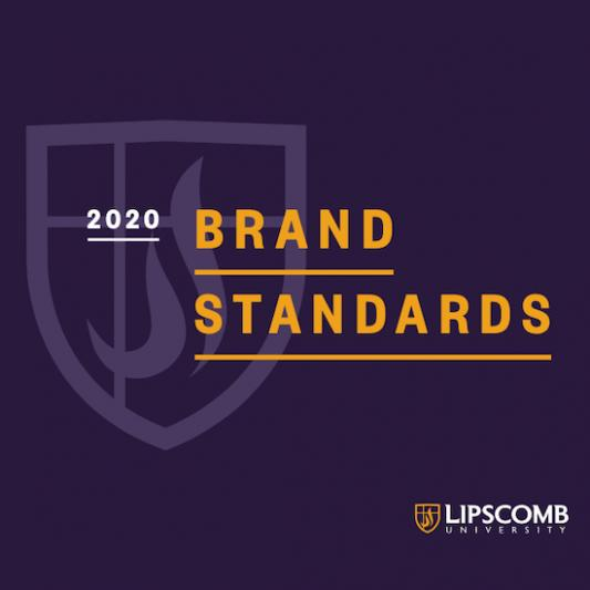 Cover of Lipscomb Brand Standards guide.