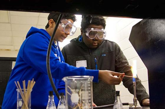 Students take part in a past STEM Day event.