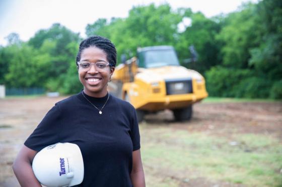 News - Michaela Kirk Construction zone headshot
