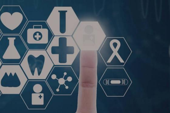 Abstract picture of health care symbols