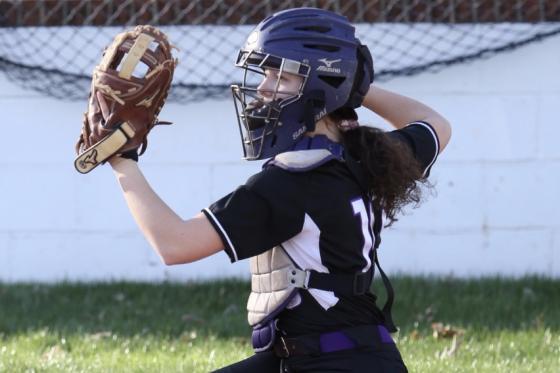 Softball Pitcher Throwing Ball