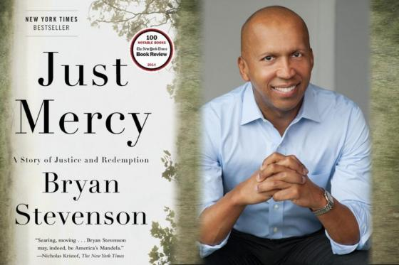 Just Mercy book cover and author Bryan Stevenson