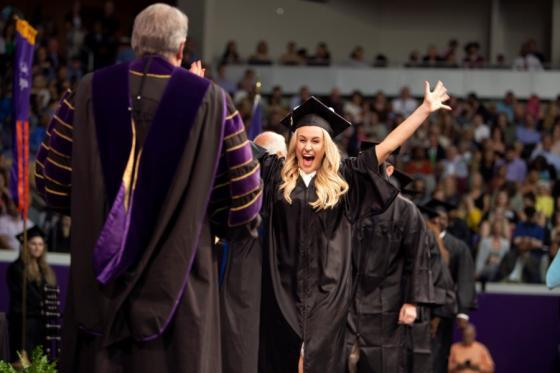 Excited Student Graduates