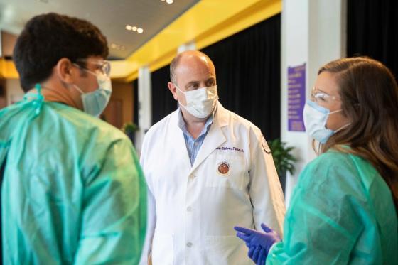 Eidson overseeing a flu shot clinic