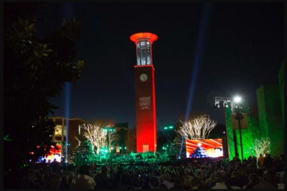 Bell Tower at Lighting of the Green