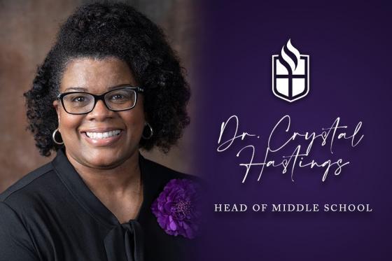 Dr. Crystal Hastings, head of middle school