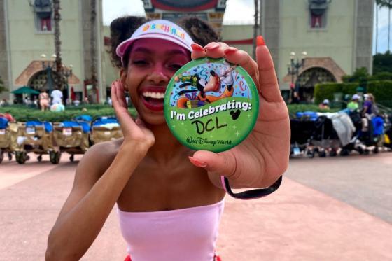 Daysha Collins celebrating Disney role