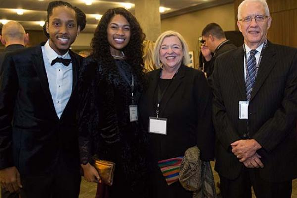 L to R: MarQo Patton, Whittney Patton, Deborah Boyd and Donald Boyd at the Lipscomb Honors event in 2018