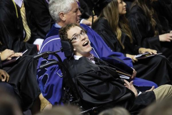 Seth Walker at his graduation ceremony