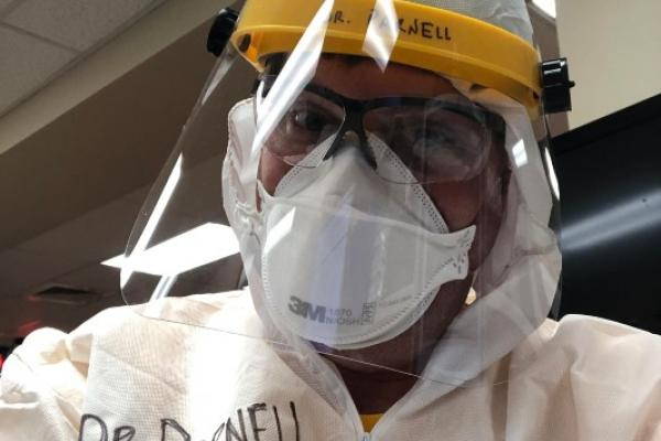 Dr. James Parnell in PPE